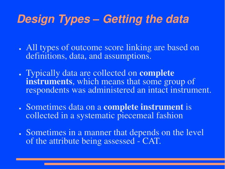 Design Types – Getting the data