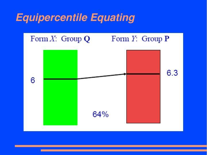 Equipercentile Equating