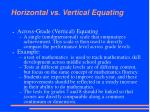 horizontal vs vertical equating1