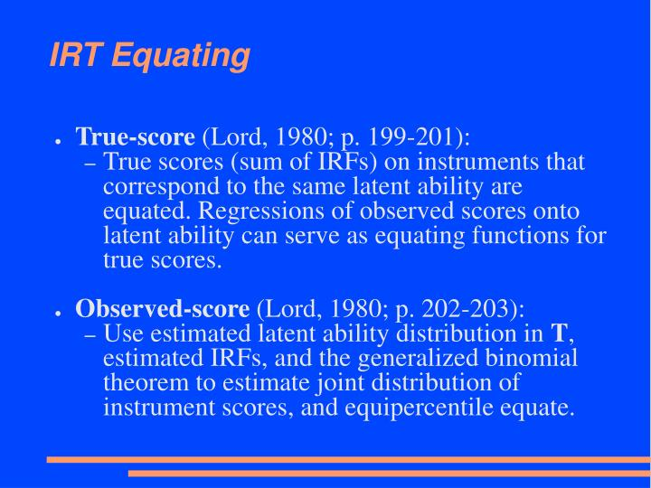 IRT Equating