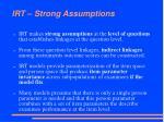irt strong assumptions