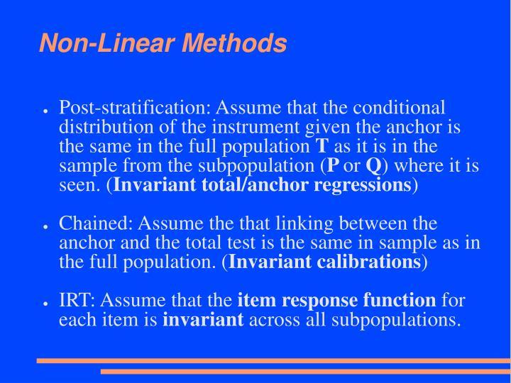 Non-Linear Methods