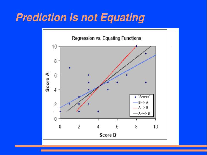 Prediction is not Equating