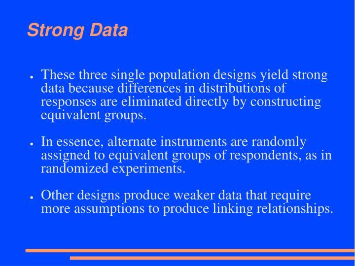 Strong Data