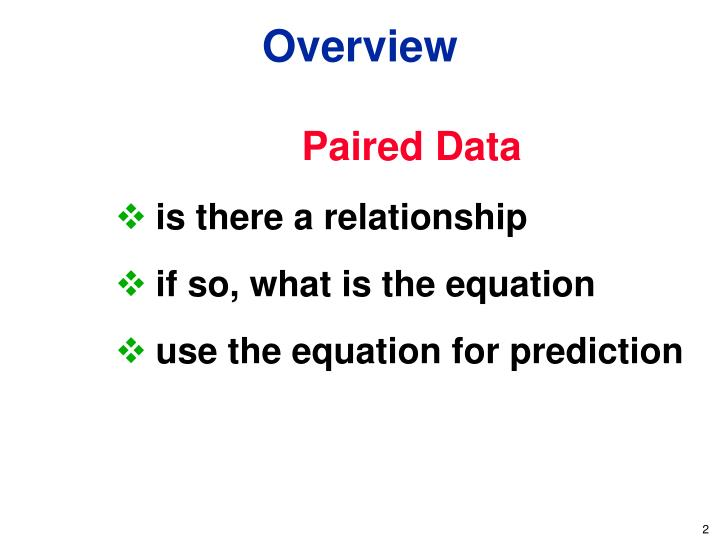 Paired Data