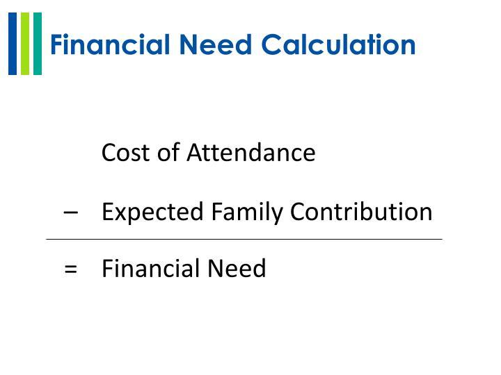 Financial Need Calculation