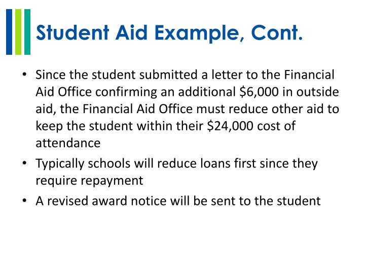 Student Aid Example, Cont.