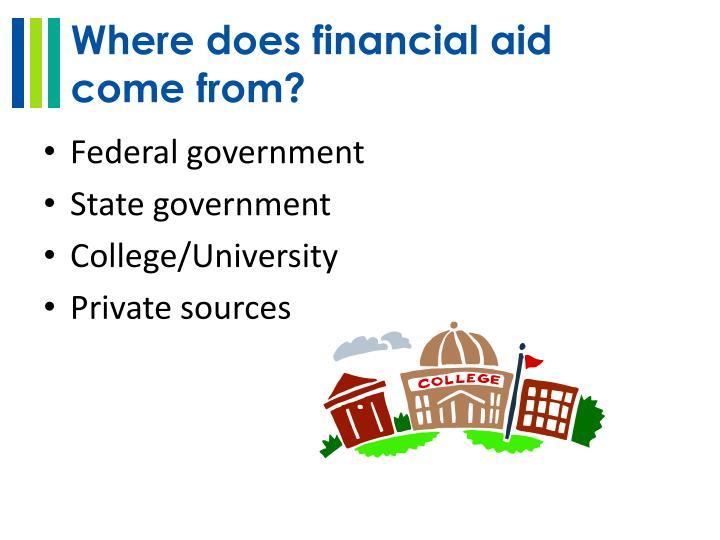 Where does financial aid
