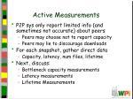 active measurements