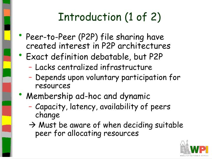Introduction (1 of 2)