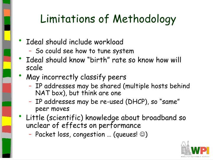 Limitations of Methodology
