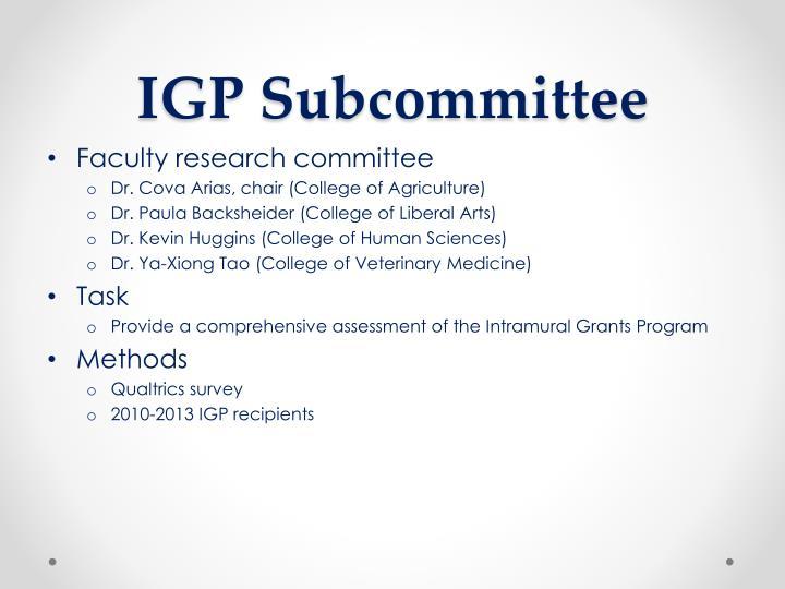 IGP Subcommittee