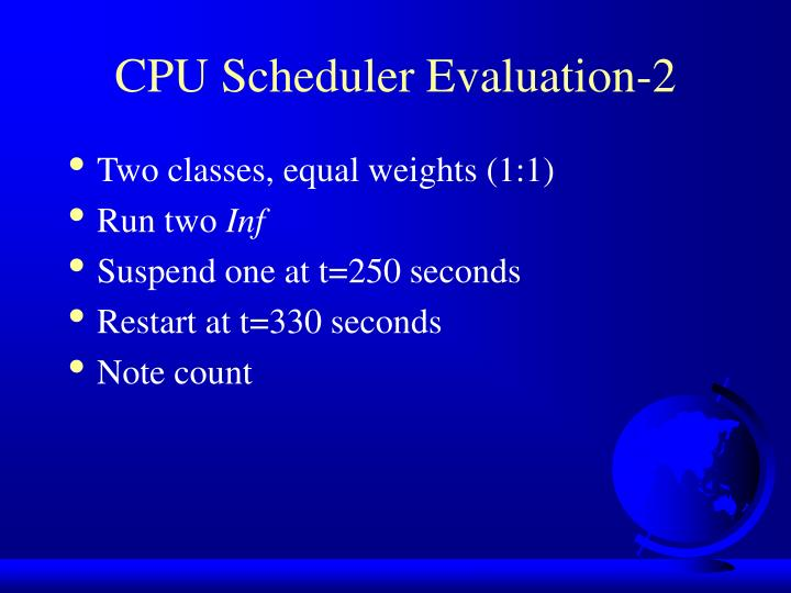 CPU Scheduler Evaluation-2