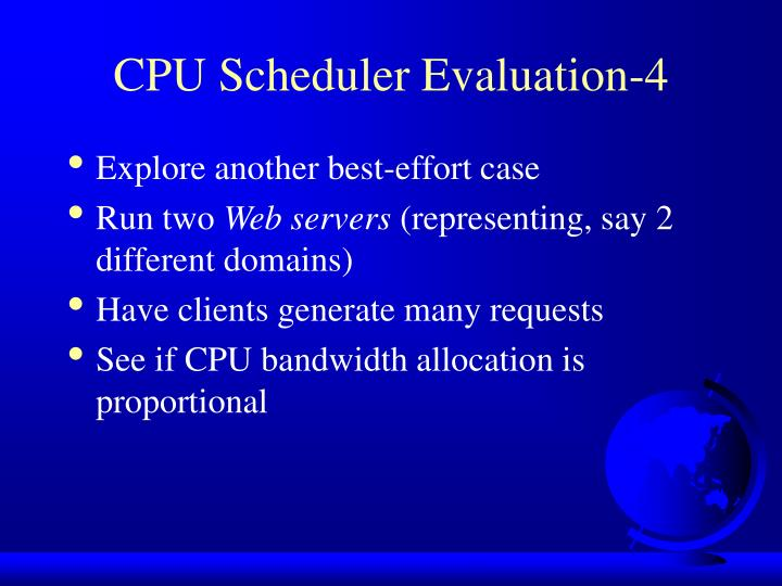 CPU Scheduler Evaluation-4