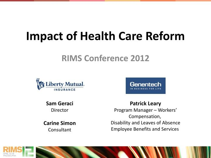 Impact of health care reform