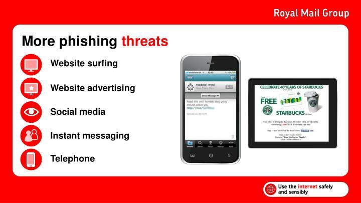More phishing