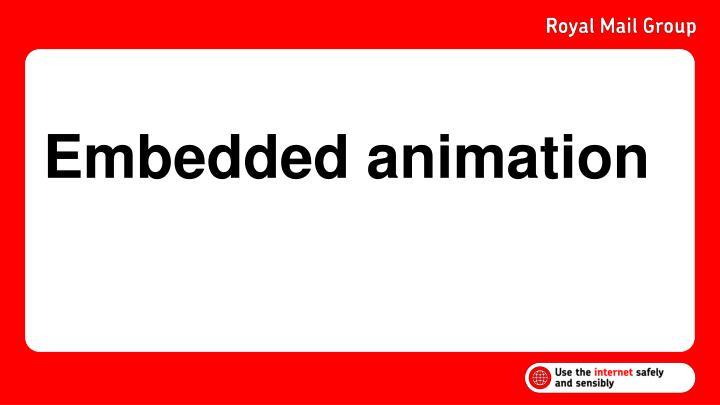 Embedded animation
