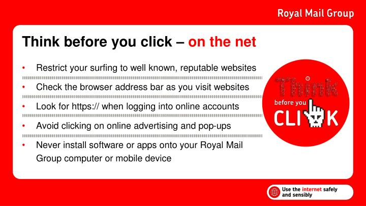 Think before you click –