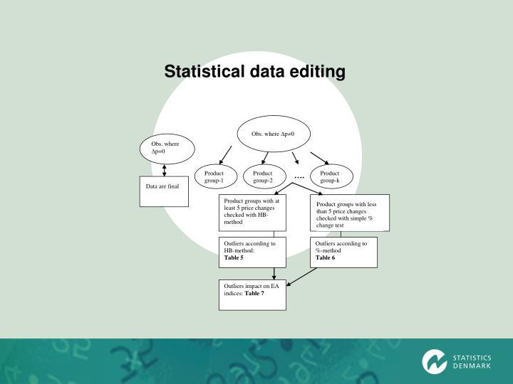 Statistical data editing
