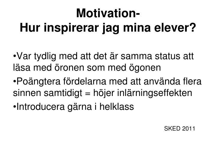 Motivation-