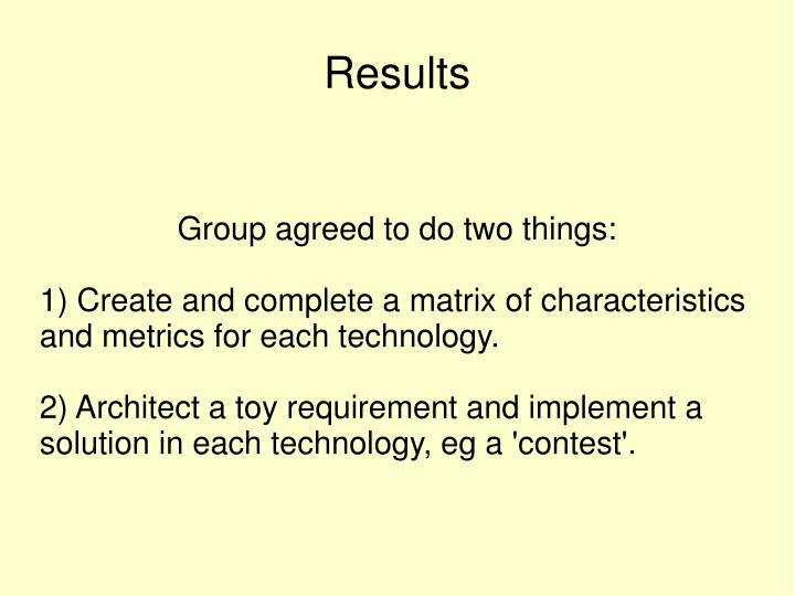 Group agreed to do two things: