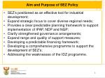 aim and purpose of sez policy