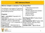 sez advisory board