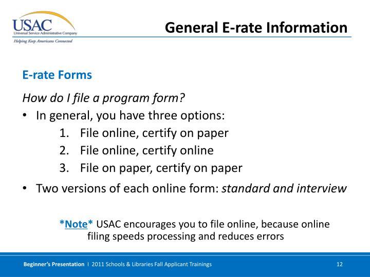 How do I file a program form?