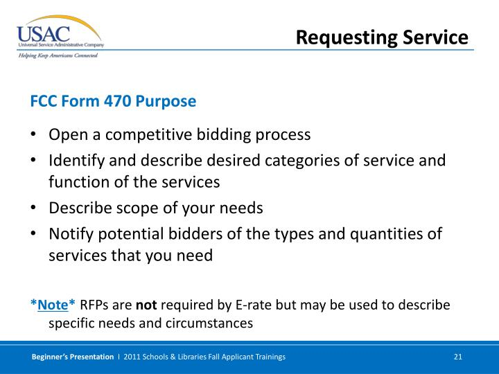 Open a competitive bidding process