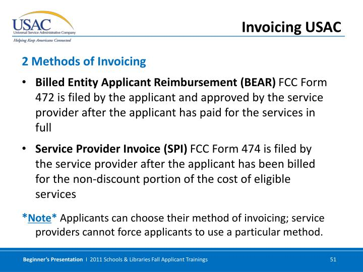 Billed Entity Applicant Reimbursement (BEAR)