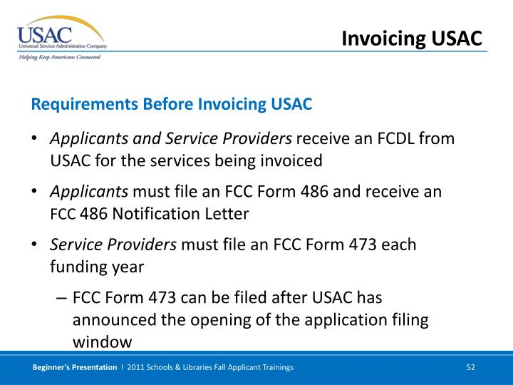 Applicants and Service Providers
