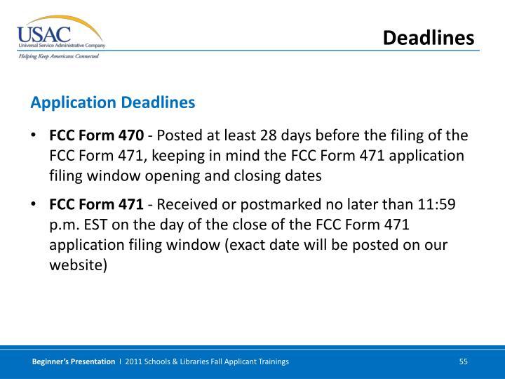 FCC Form 470