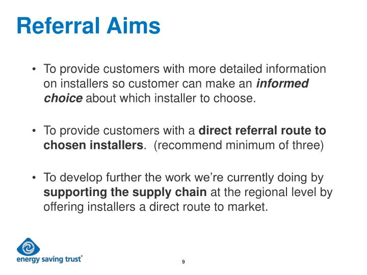 Referral Aims