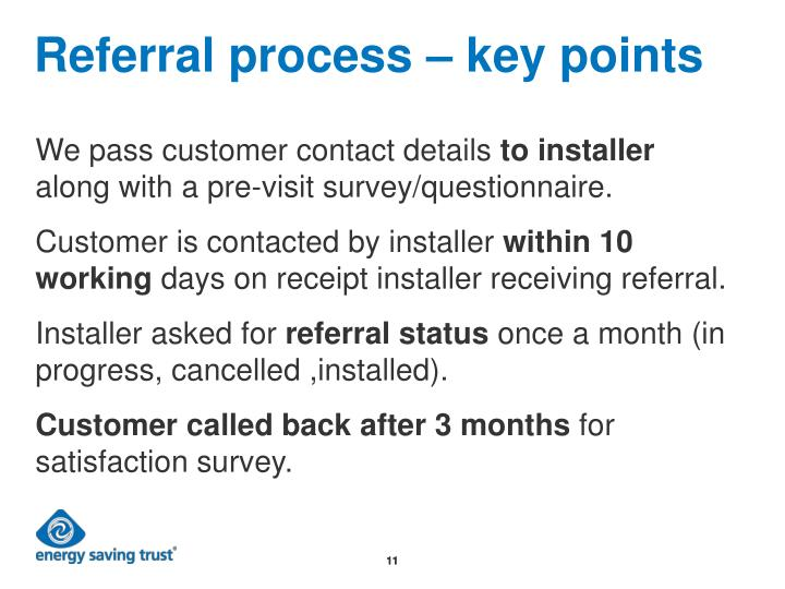 Referral process – key points