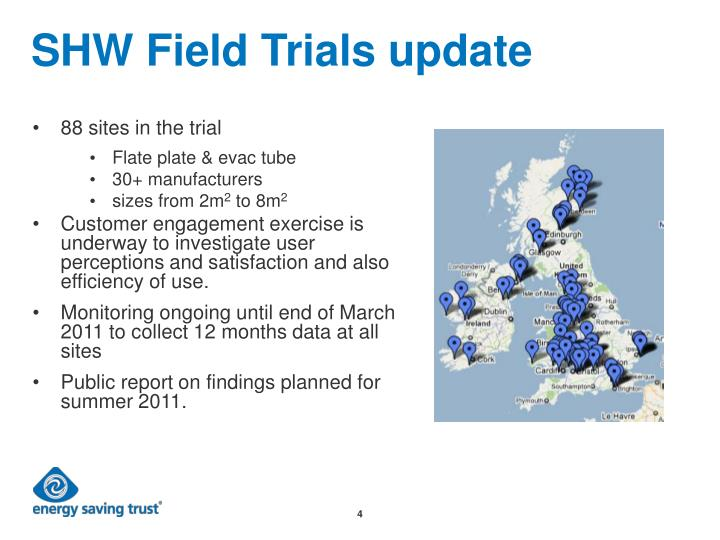 SHW Field Trials update