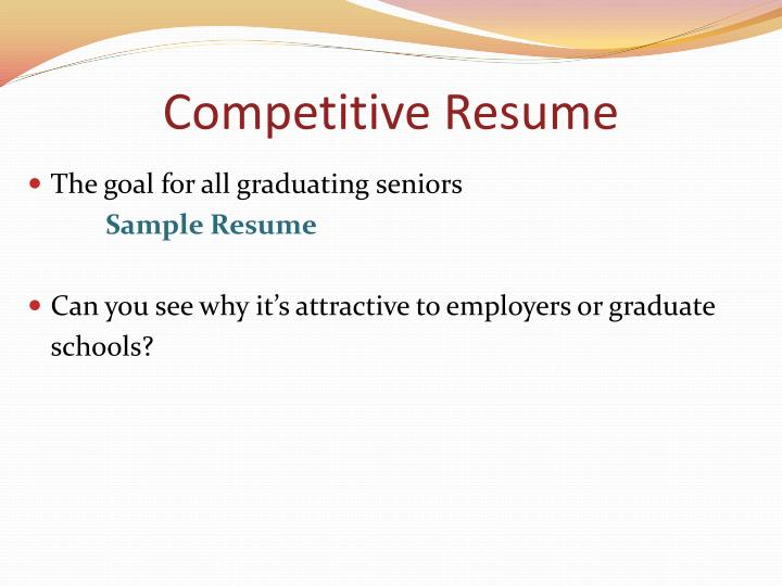 Competitive Resume