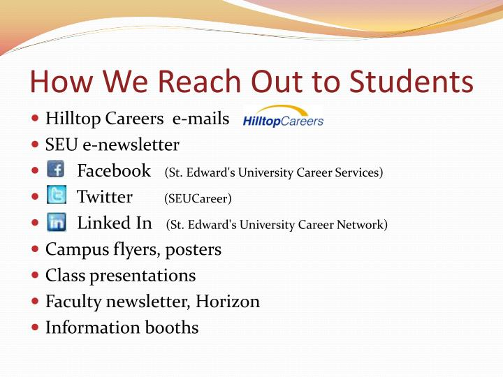 How We Reach Out to Students