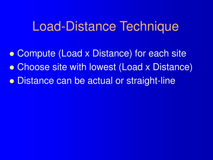 Load-Distance Technique