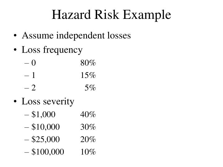 Hazard Risk Example