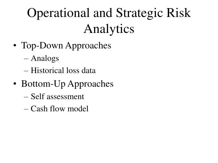 Operational and Strategic Risk Analytics