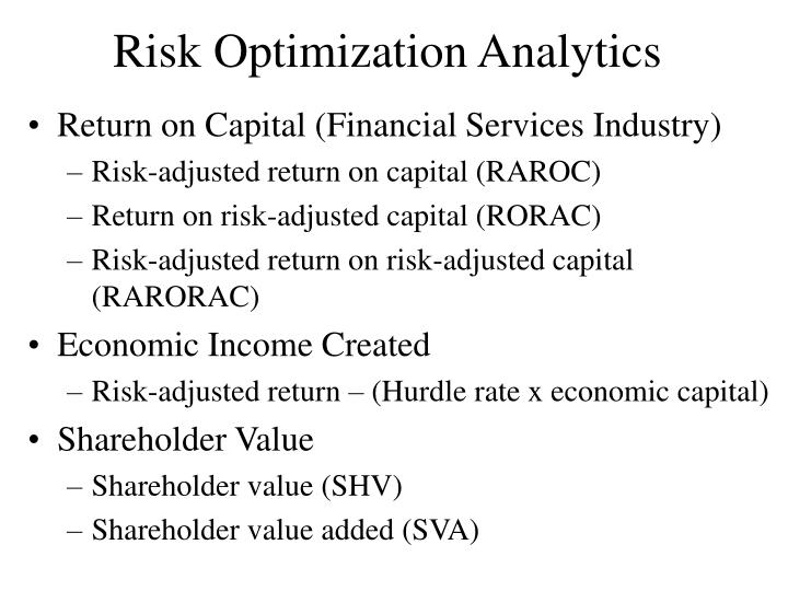 Risk Optimization Analytics