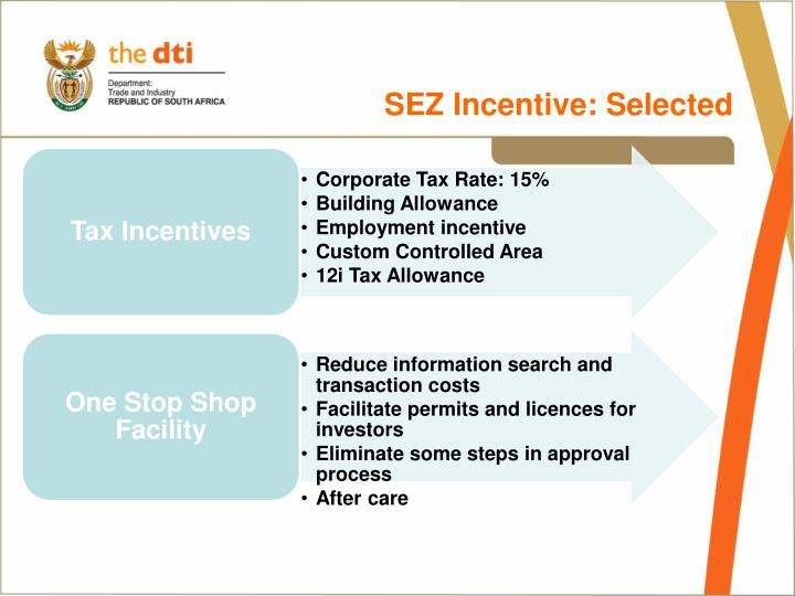 SEZ Incentive: Selected