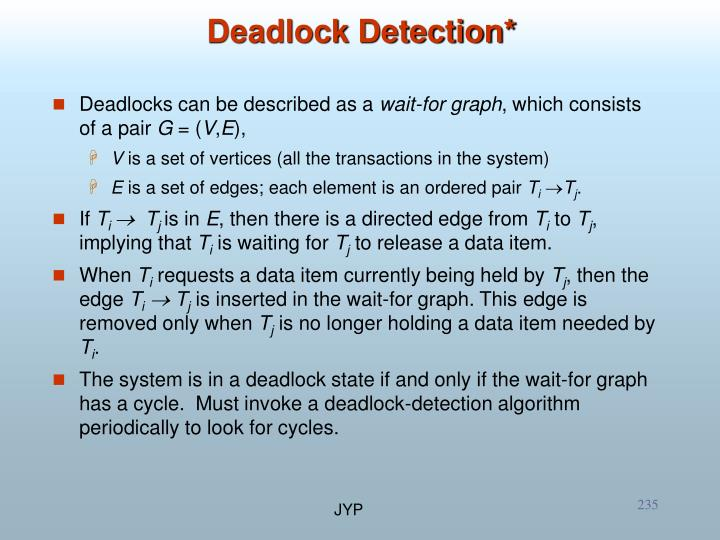 Deadlocks can be described as a