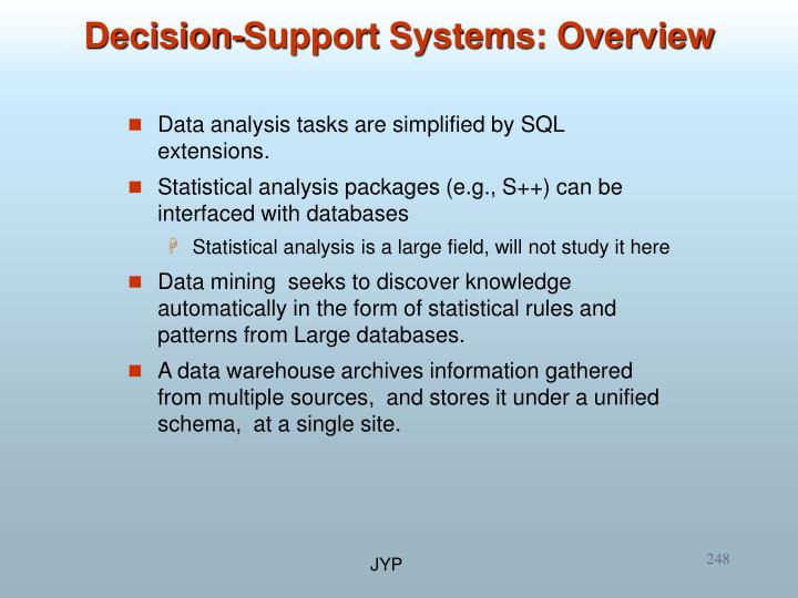 Data analysis tasks are simplified by SQL extensions.