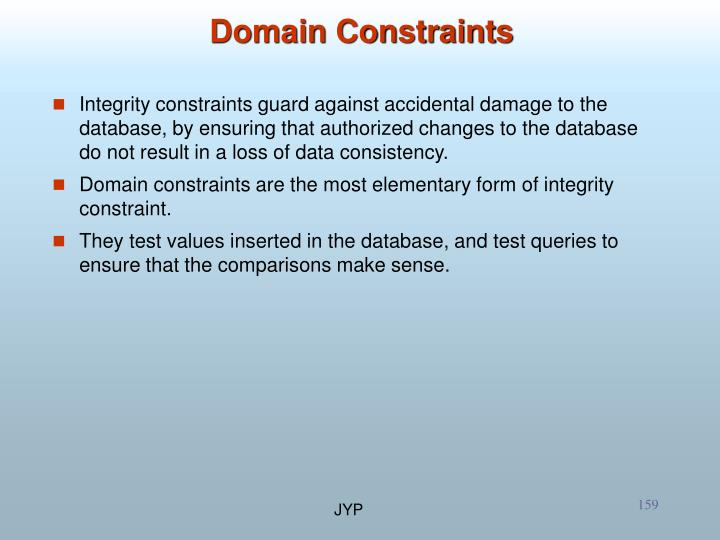 Domain Constraints