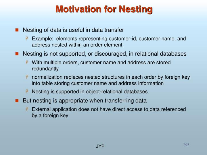 Motivation for Nesting