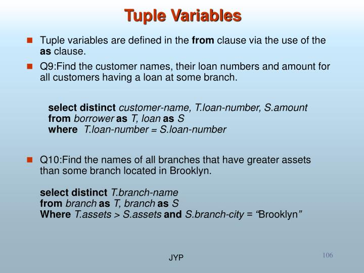 Tuple Variables