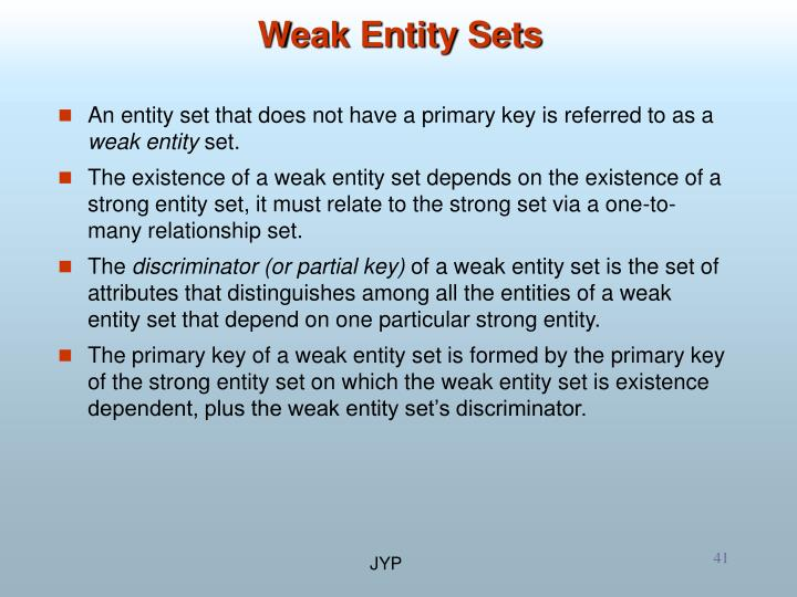 Weak Entity Sets