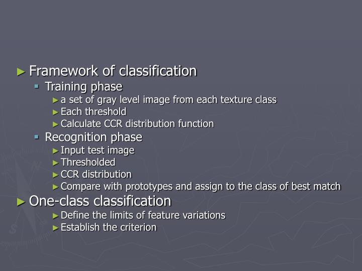 Framework of classification