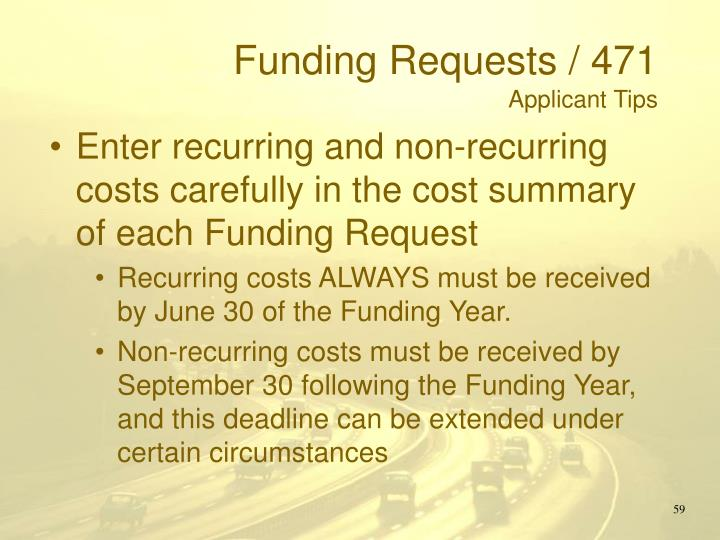Funding Requests / 471